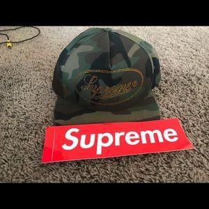 Supreme gold studded SnapBack